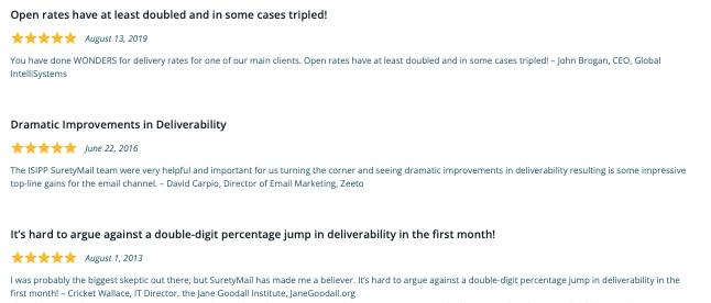 sample of real reviews